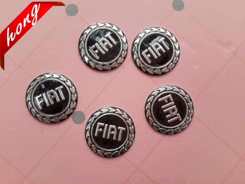 5pcs/lot Free shipping 1.4MM FIAT Car logo Auto Key Fob Emblem Badge Sticker Car styling Auto Accessories(China (Mainland))