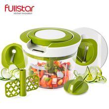 Rápida Puxar Corda Food Chopper Slicer Espiral Poderosa Mão Manual Realizada Chooper/Misturador/Misturador para cozinha faca faca de cozinha ferramenta(China)