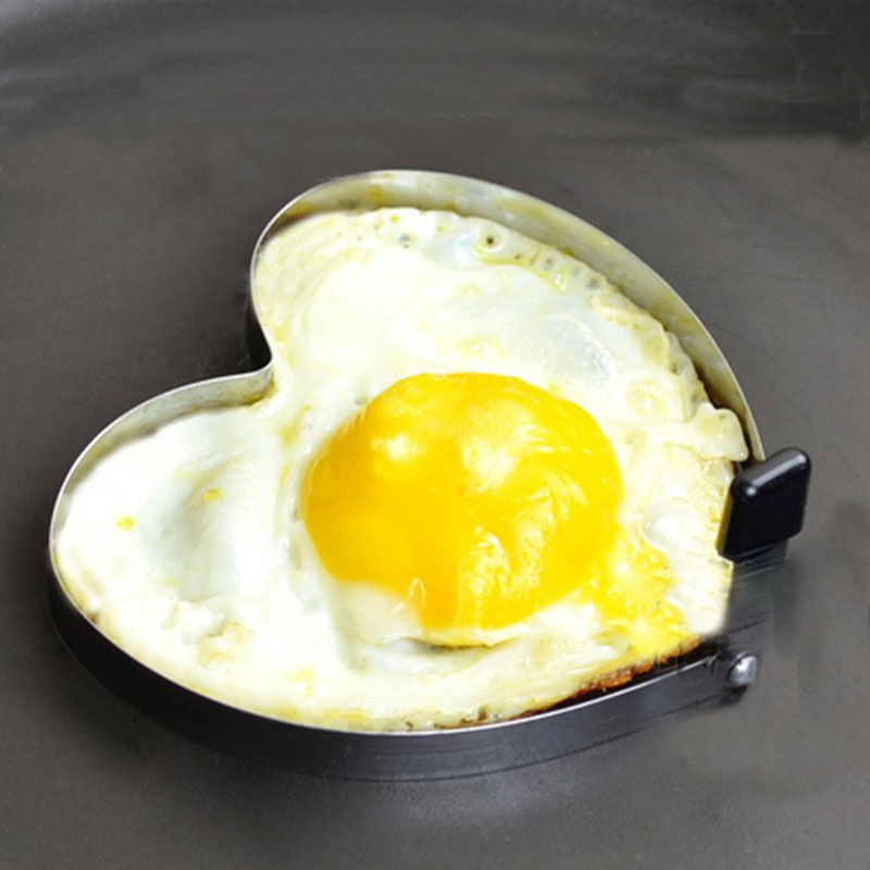 Cute Kitchen Heart Love Shaped Cook Fry Egg Mold Pancake Stainless Steel Mould #9509(China (Mainland))