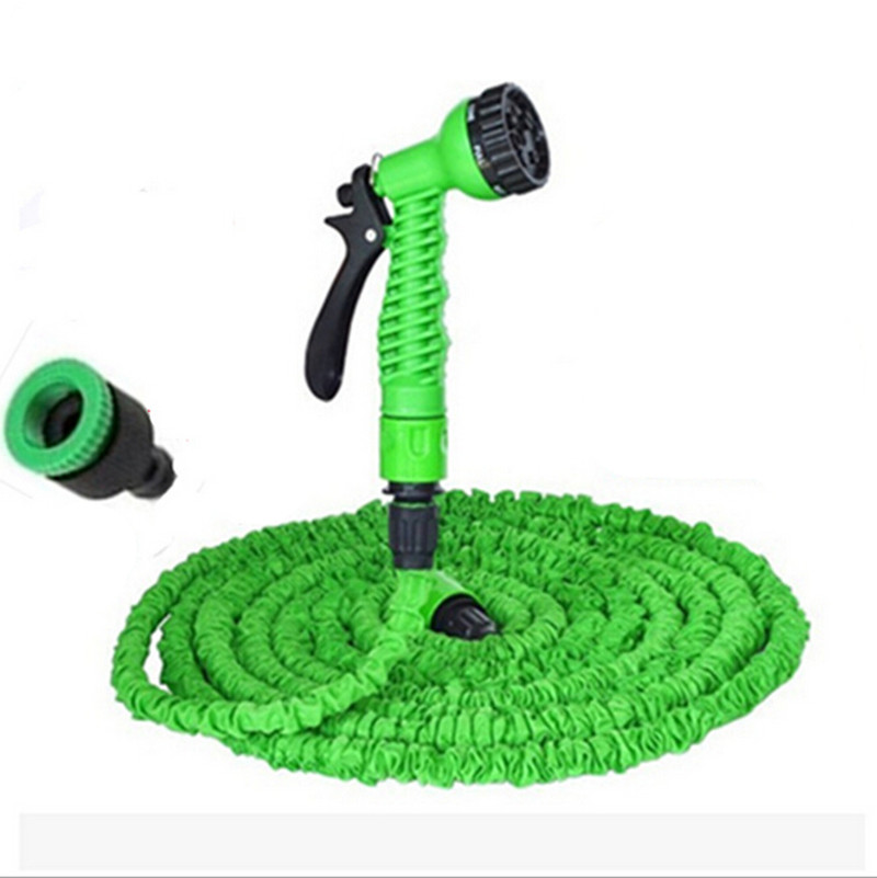 Hot Selling 25FT Expandable Magic Flexible Garden Hose For Car Water Pipe Plastic Hoses To Watering Garden Hose Reels(China (Mainland))