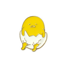 Cute Cartoon Kawaii Gudetama Pigro Uovo Distintivi e Simboli Spilla Spilli Pulsante Spilli Dei Jeans Della Decorazione del Sacchetto di Spille Regalo Per Gli Uomini Le Donne Accessorio(China)