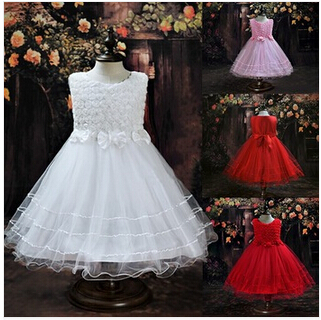 Hot Selling!! 2015 new flower girl dress gorgeous dresses for girls glitz white clothes for formal party kids costume 2-10Y(China (Mainland))
