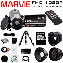 """Buy Marvie 3.0"""" LCD Touch Screen 24MP Remote Control Video Camera 1080P FHD Camcorder Recorder DV Night-Shot 16X Digital Zoom for $75.07 in AliExpress store"""