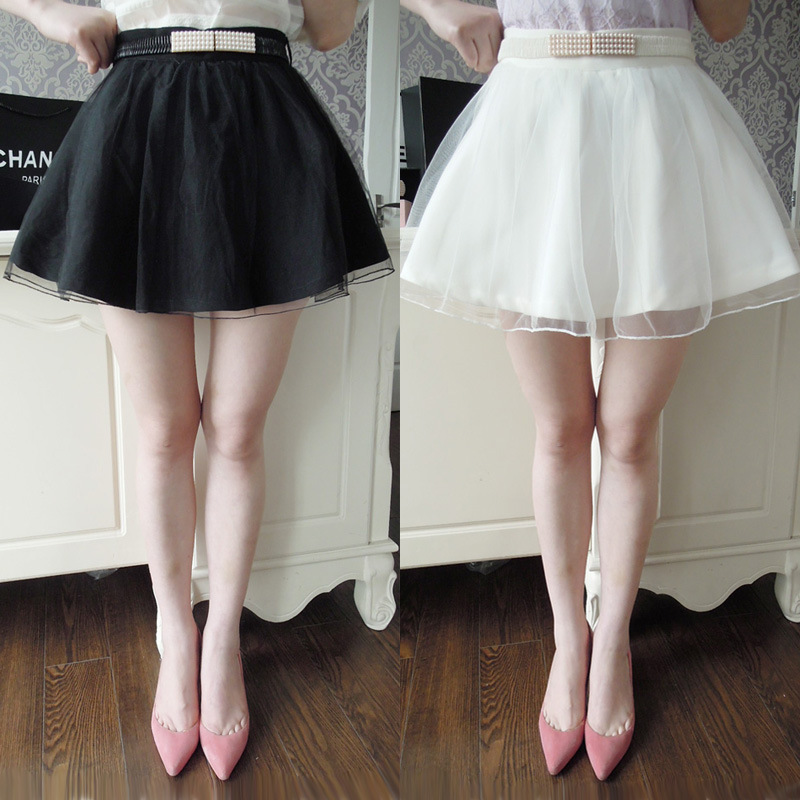 2015 Fashion Summer Women Ballroom Skirts Vintage High Waist Flared Puff Mini Skirt Elegant Lady - Mony Shop store
