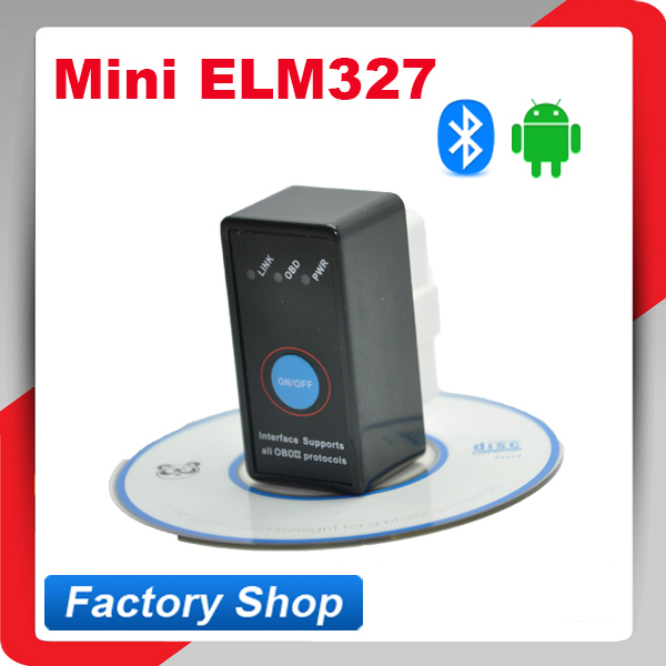 Works on Android Symbian Windows Super Mini Bluetooth ELM327 ELM 327 OBD2 obd ii CAN-BUS Diagnostic Car Scanner Tool with Switch(China (Mainland))