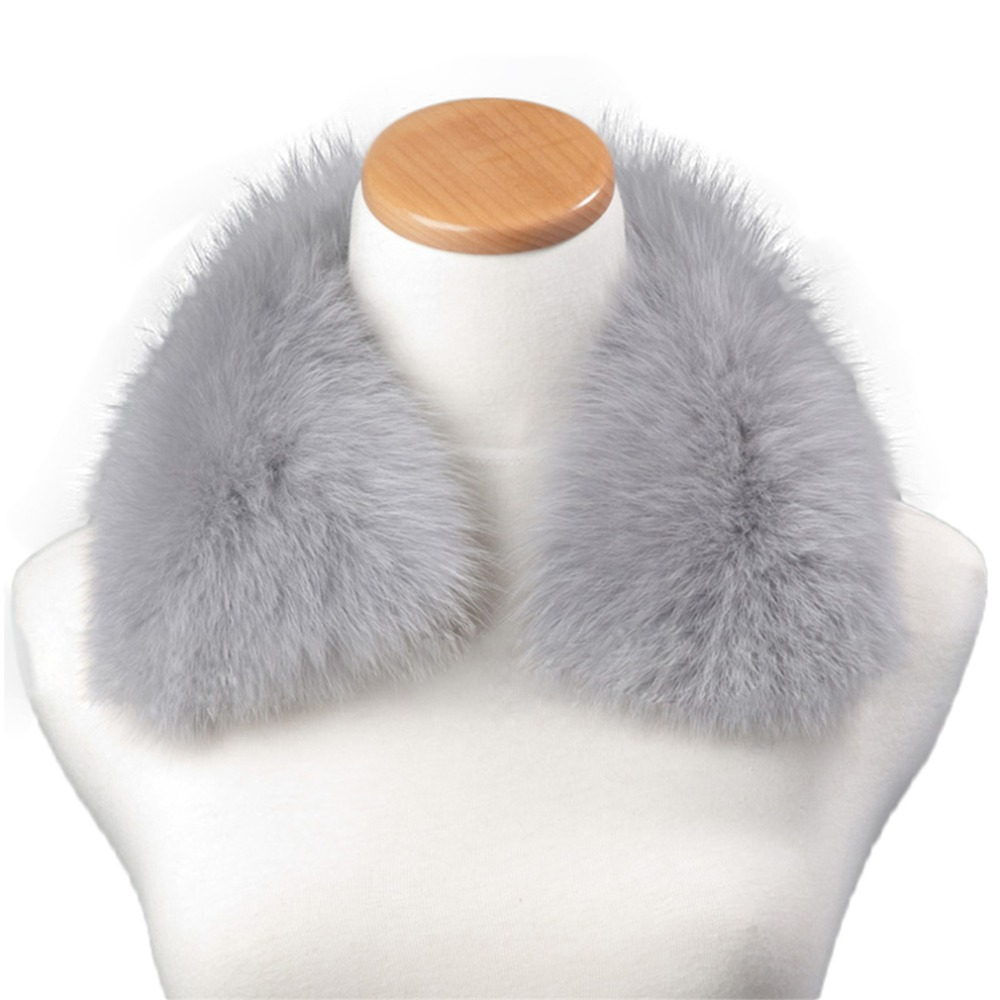 Ferrand Real Genuine Detachable Detachable Fox Fur Women Winter Collar Scarf Shawl Wrap Neck Warmer(China (Mainland))