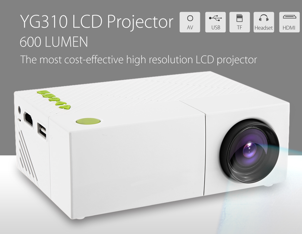 YG310 LCD Projector High Resolution LED Projection Apparatus