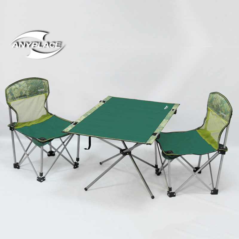 2016 new Anyplace outdoor folding tables and chairs set a table two chairs ca