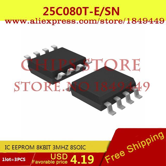 Бесплатная Доставка Электронные Компоненты 25C080T-E/SN IC EEPROM 8 КБИТ 3 МГЦ 8 SOIC 25C080T-E 25C080 25C080T 3 ШТ. max6225aesa t 8 soic