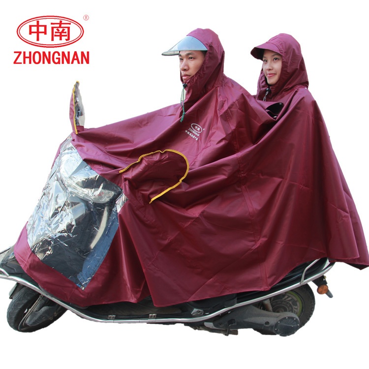 2015 Promotion Jacket Rain Coat Win Raincoat For Motorcycle Electric Cars On Both Sides Of Oxford Double Lengthening Thickening(China (Mainland))