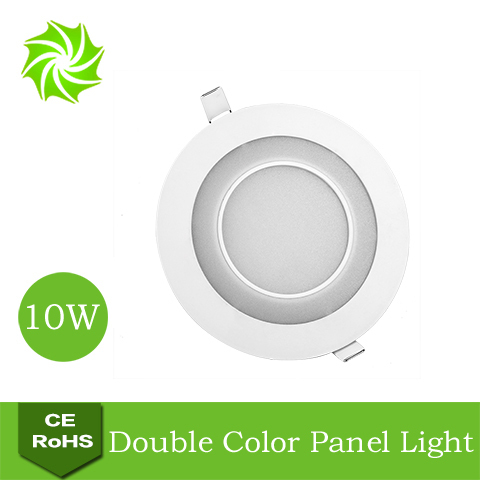3D Effect White+Blue 10W Round LED Ceiling Downlight LED Panel Light Living Room Llight Bedroom Llight 110V 220V Free Shipping(China (Mainland))