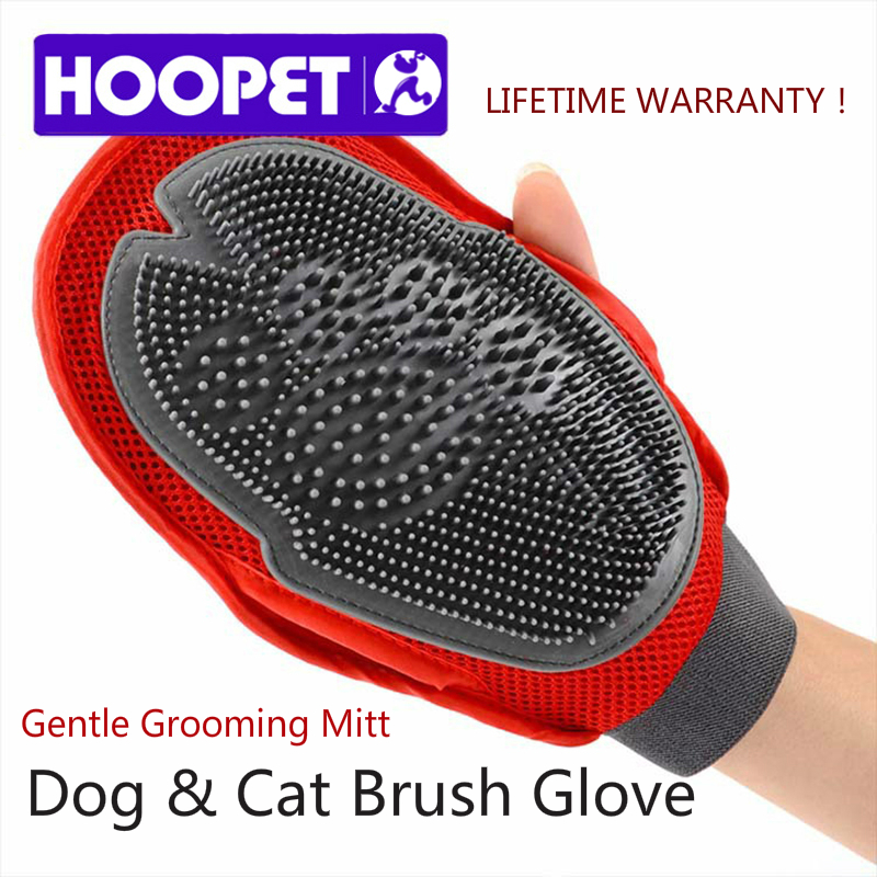 HOOPET Cat Pet Dog fur Grooming Groom Glove Mitt Brush Comb Massage Bath Brand New big dog wash tool Bubble maker(China (Mainland))