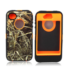 very good quality Camouflage case Orange TPU Case wilderness case For Iphone 4/4s 5s,5c,free shipping(China (Mainland))