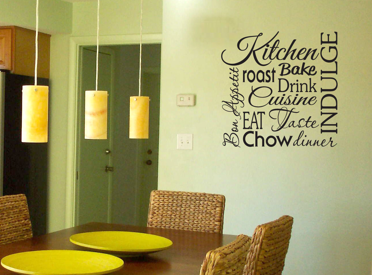 D468 Kitchen Words vinyl wall lettering quote decal/sticker bake drink eat dinner(China (Mainland))