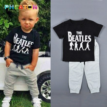The Beatles Boy Clothes Short Sleeve T-shirt + Pants Outfit Toddler Boys Clothing Children Sport Suits Summer Kids Clothes(China (Mainland))