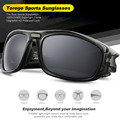 TOREGE Polarized Unisex Sunglasses For Driving Golf TR90 Unbreakable Frame Men s Fashion Eyewear Goggles Style