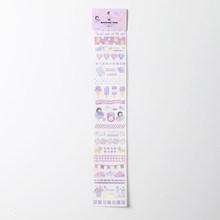 Mohamm Kawaii Daily life serie de artículos pequeños Washi Masking Tape Stickers Scrapbooking papelería decorativa tira larga de cinta(China)
