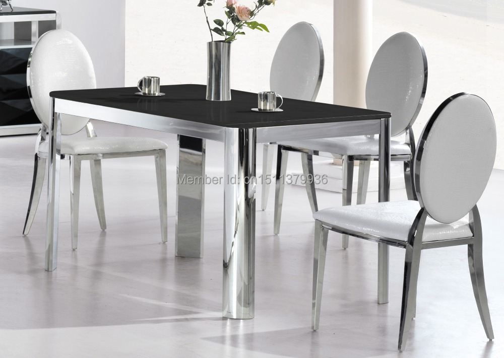 Hot sell table modern living room furniture stainless  : Hot sell table modern living room furniture stainless steel dining table 805T from www.aliexpress.com size 1000 x 711 jpeg 130kB