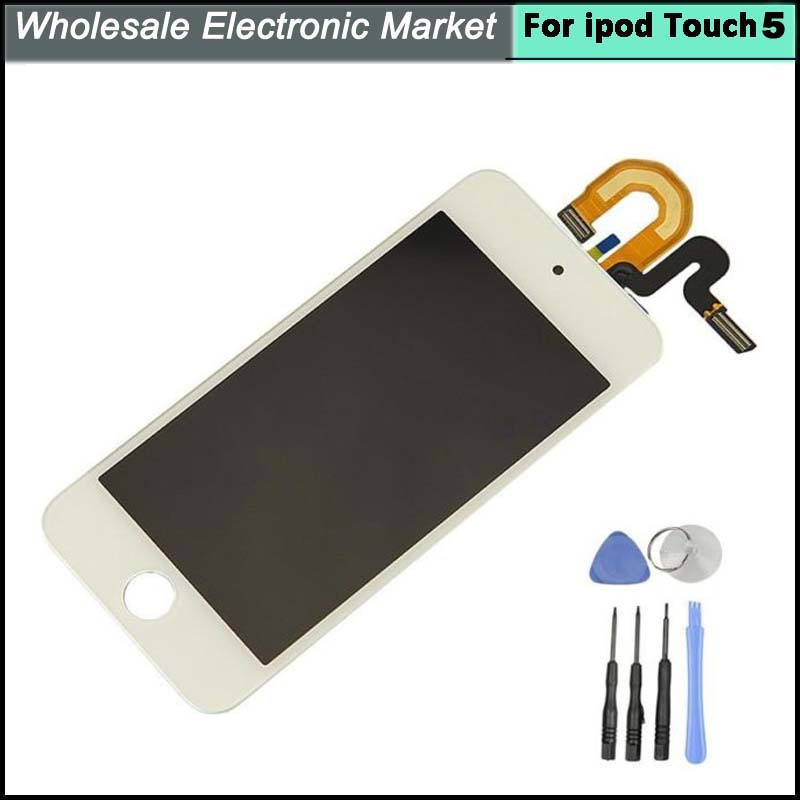 100% Warranty For Apple Ipod touch 5 LCD Display With Touch Screen Digitizer Assembly White Color with Tools Free Shipping(China (Mainland))
