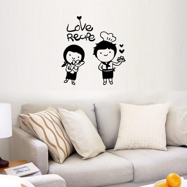 home decor cuire anglais affiche de mur livng chambre chambre d corer retrait dans stickers. Black Bedroom Furniture Sets. Home Design Ideas