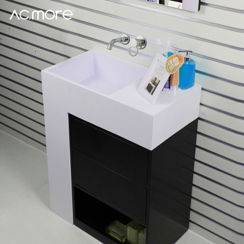Wholesale washbasin cabinet combination square floor bath mirror vanity wash basin ASME(China (Mainland))