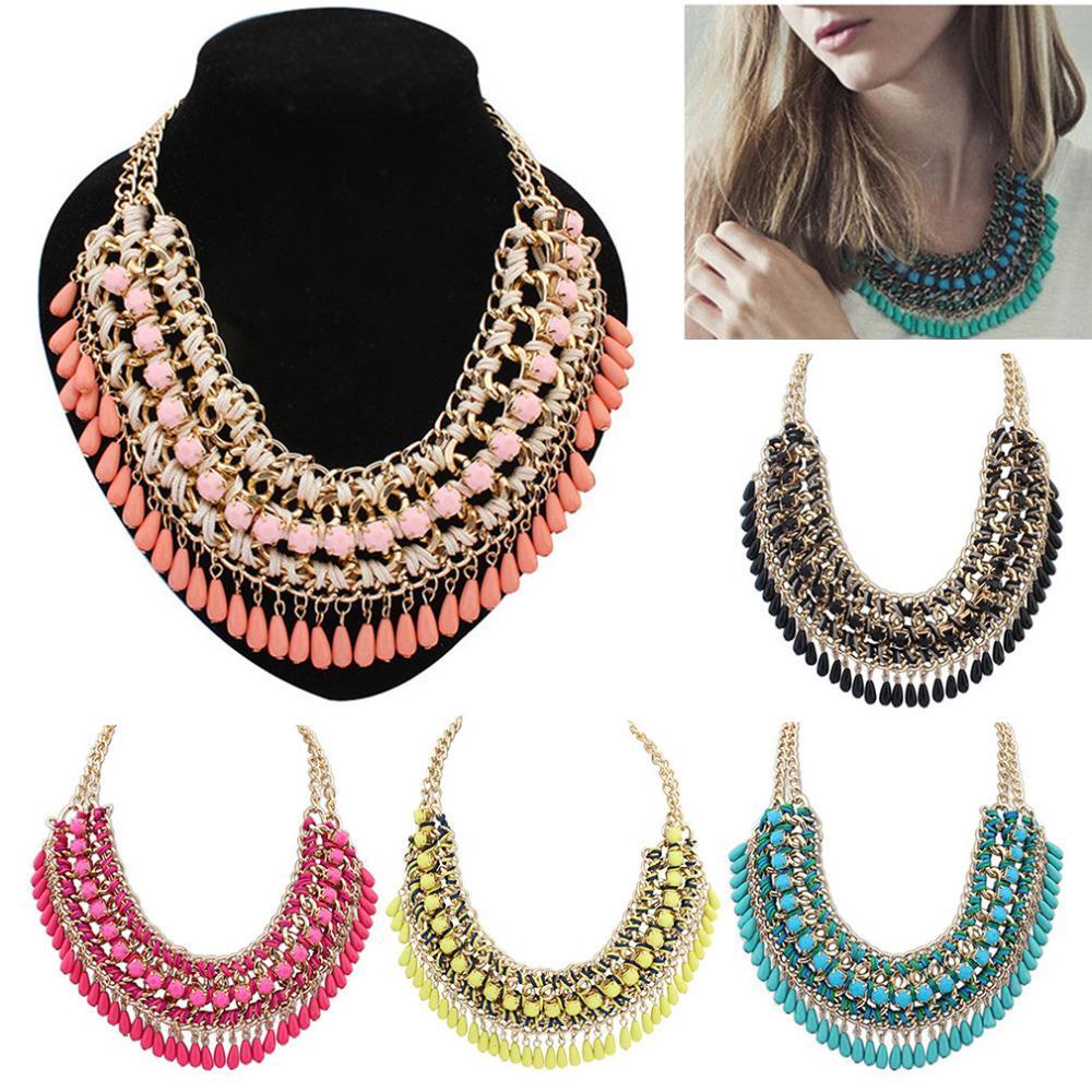Новые 2015 мода богемия вязание ожерелье ворота чокеровщика ожерелье прекрасно украшения для женщин ожерелье