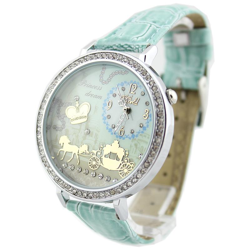 mini female watch Ms. fashion clay rhinestone Carriage lovely models student creativity watches c007(China (Mainland))