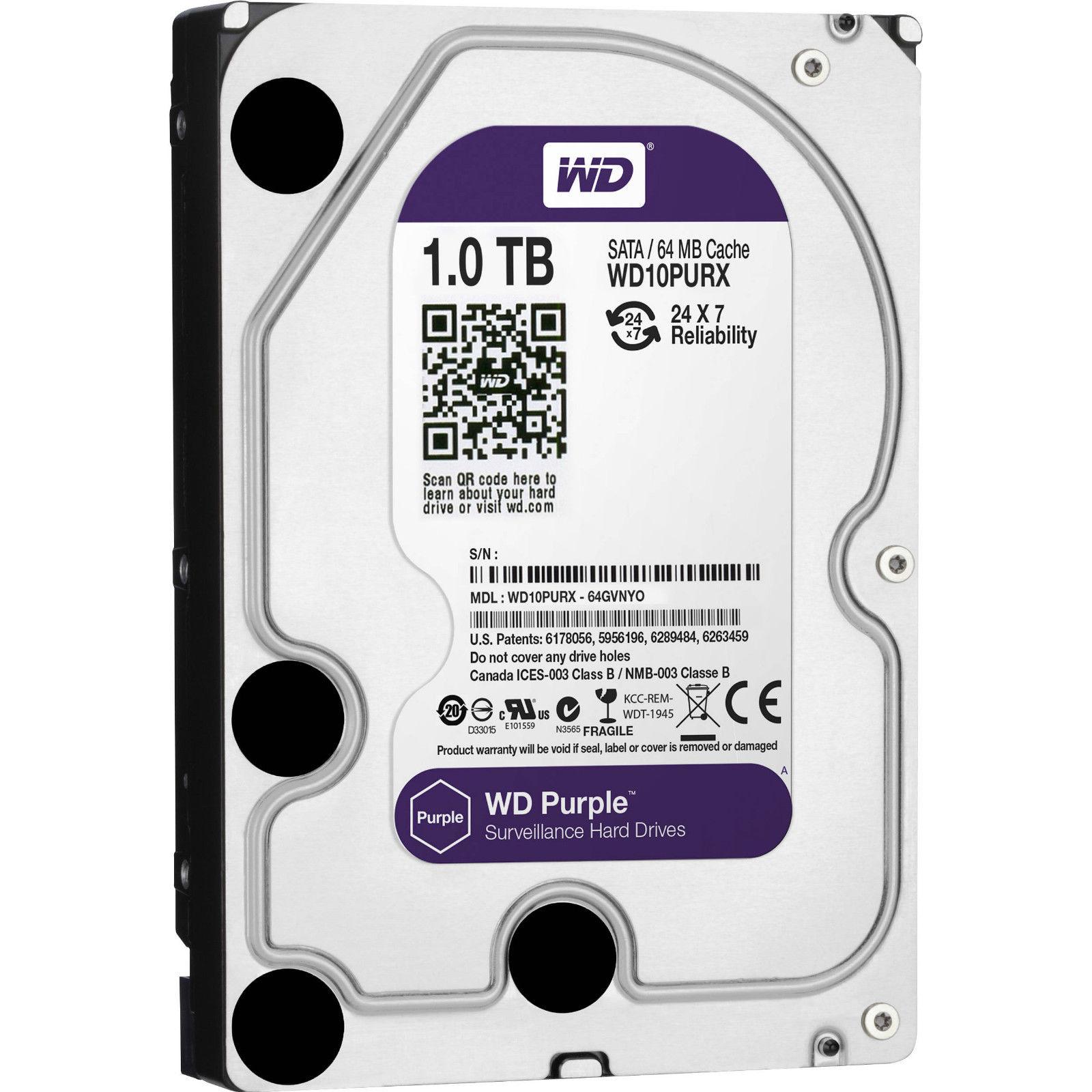 "1TB Western Digital WD Purple 3.5"" HDD Surveillance SATA Hard Drive WD10PURX(China (Mainland))"