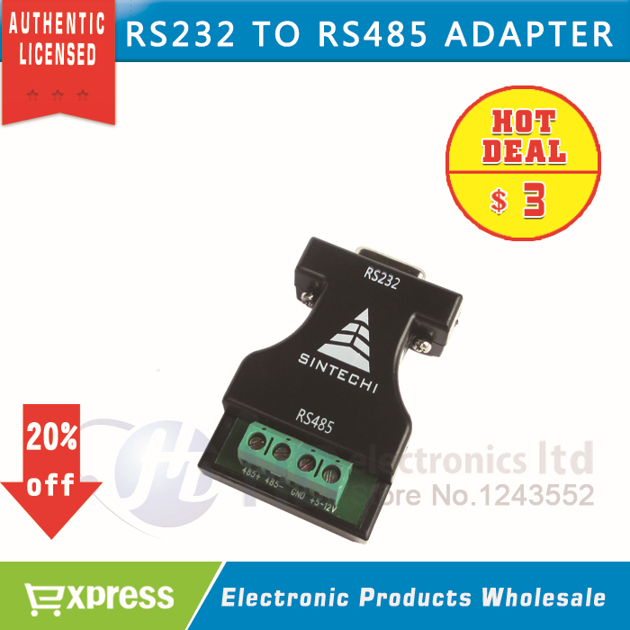 RS232 to RS485 adapter switch 232 turn 485 adaptor 485 communication adapter converter(China (Mainland))