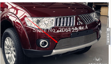 Free Shipping! Front Center Grill Grid Grille Cover Trim For 2001-2015 for Mitsubishi pajero sport Fast air ship