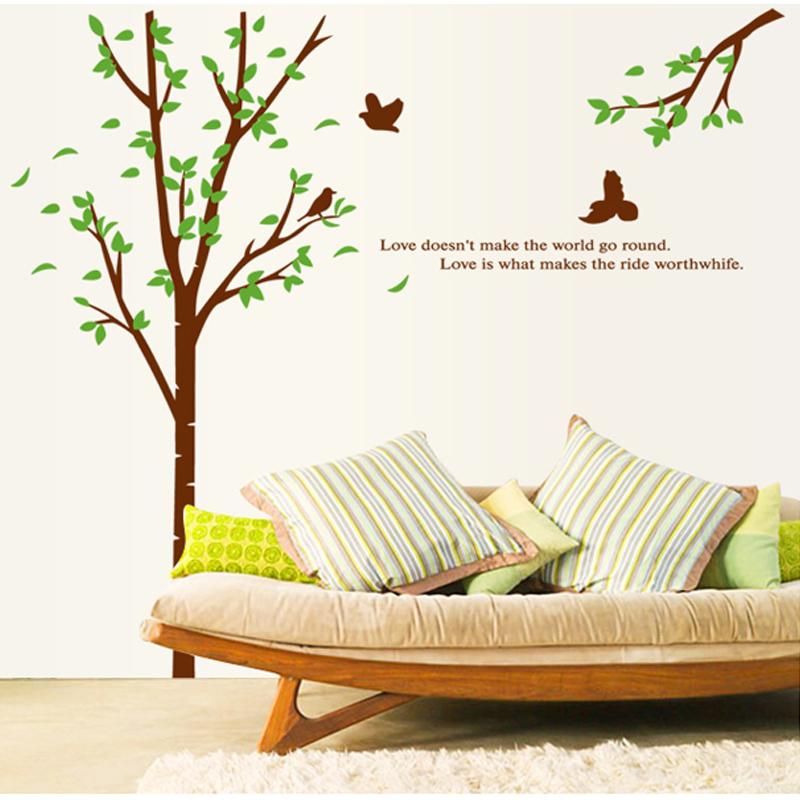 Free shipping DIY Seclusion1 sofa tv wall stickers fresh natural wall sticker(China (Mainland))