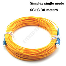 LC-SC fiber connectors patchcord Optical jumper FTTH SC-LC single mode Simplex 30 meters LC/UPC-SC/UPC-SM-2.0-30m - fmcomm Store store