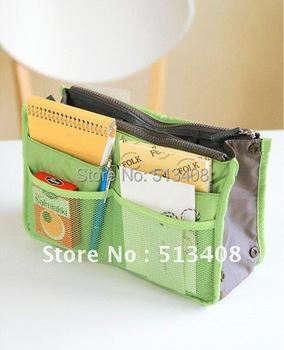 Drop Shipping Multifunction 13Colors Thicken Women Insert Handbag Organiser Insert Cosmetic Bag Organizer