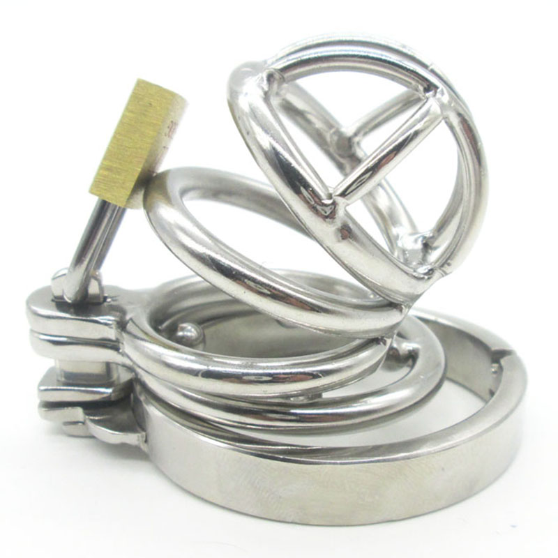Super Small Male Bondage Chastity Device Stainless Steel Adult Cock Cage Lock BDSM Sex Toys Chastity Belt Short Cage<br><br>Aliexpress