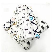 Summer 100%Muslin cotton Single layer baby towel newborn blanket baby swaddle infant wrap 120x120cm 180g(China (Mainland))