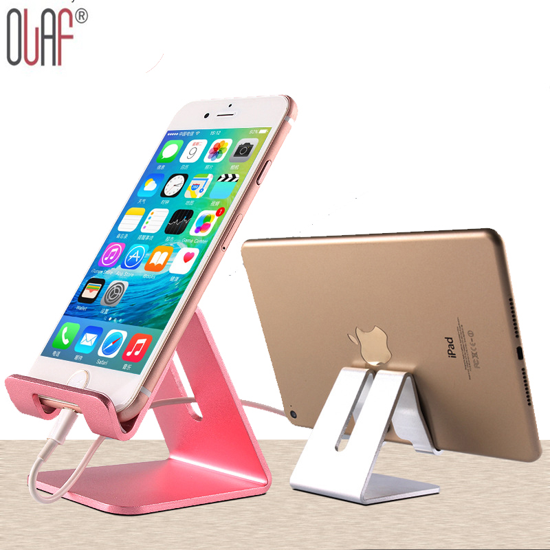 Universal Luxury Aluminum Metal Mobile Phone Tablet Desk Holder Stand for iPhone for Samsung Smartphone Tablets for Laptop(China (Mainland))