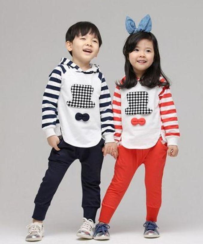 Childrens sets New Autumn Kids Boys Girls Hooded Sweater + Harem Pants 2pcs/set Free Shipping<br><br>Aliexpress