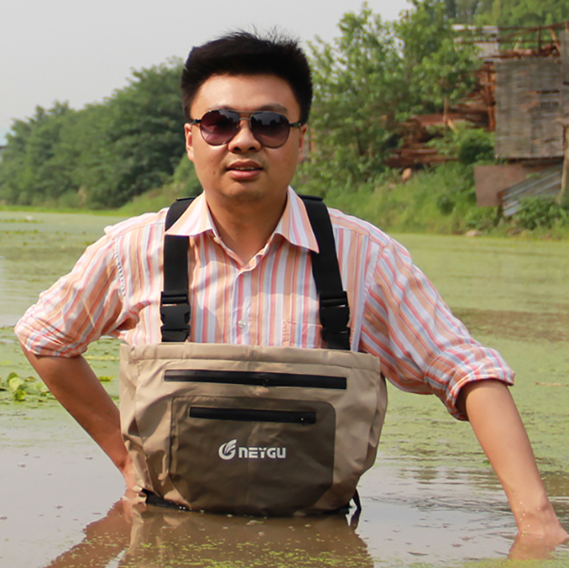 Breathable 100% Waterproof Chest Fishing Wader With Neoprene Socks, High Quality Wader for Fly Fishing(China (Mainland))