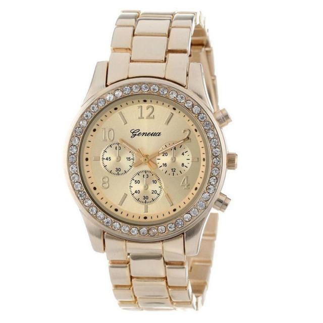 Zegarek damski GENEVA kryształki elegancki stylowy modny trzy kolory