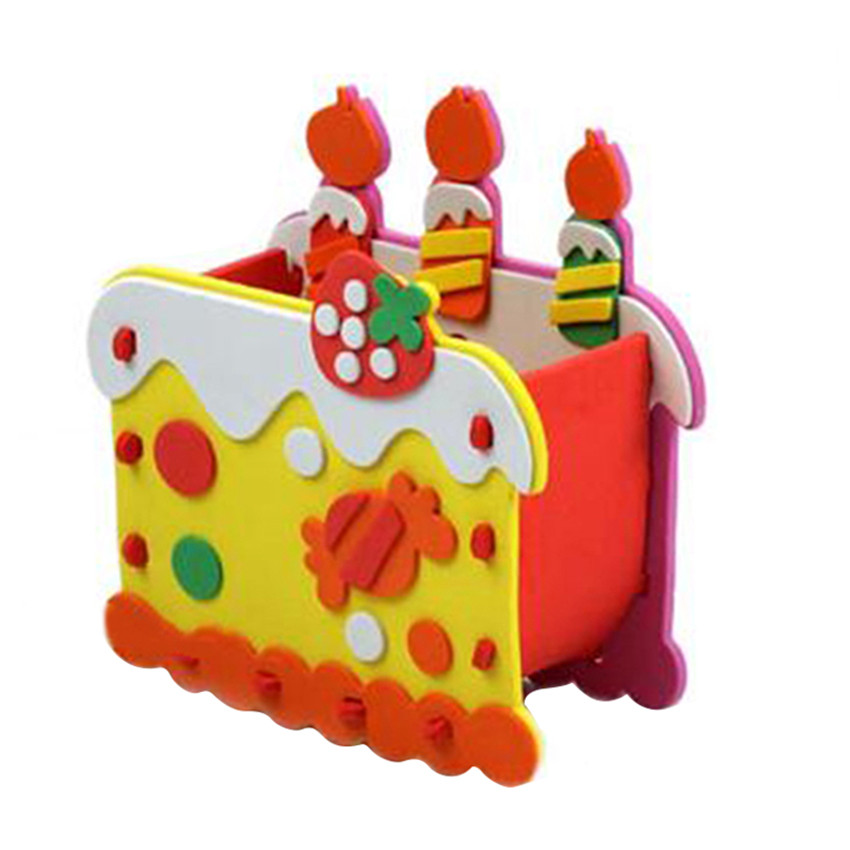 New Design EVA DIY Pen Container Kid's Colorful Building Toys Ship in Random Color(China (Mainland))