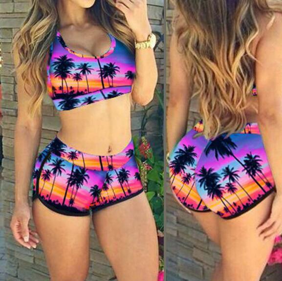 Bikini swimwear sexy women push up bandage swimsuit set for Trajes de bano juveniles