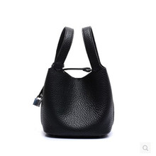 Brand designer women bag basket bucket bag high quality genuine leather bags embossed ladies handbag 4 pretty colors bolsas B24