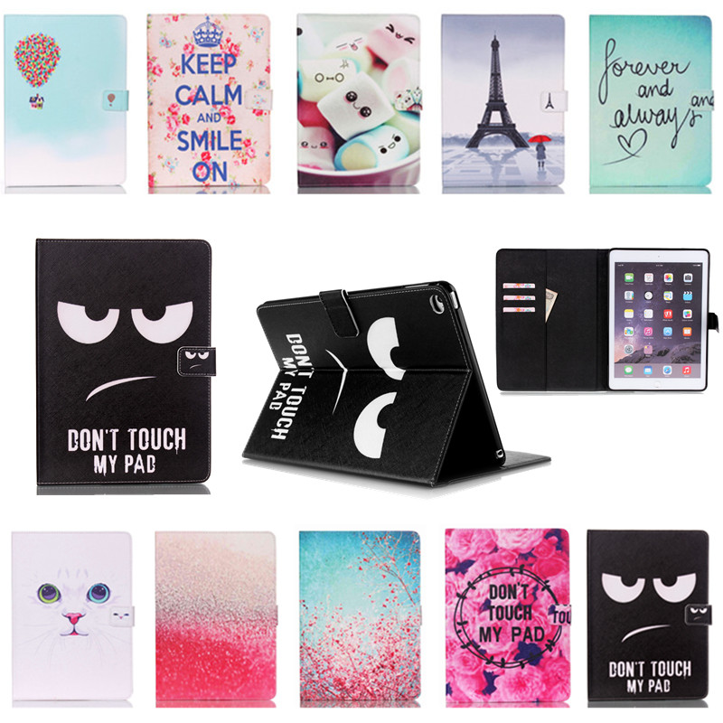 new PU Leather Flip Case for Apple iPad mini 4 Case Stand Cover Case With Card Holder Girl Gift Cover Protector Film Free Shipp(China (Mainland))
