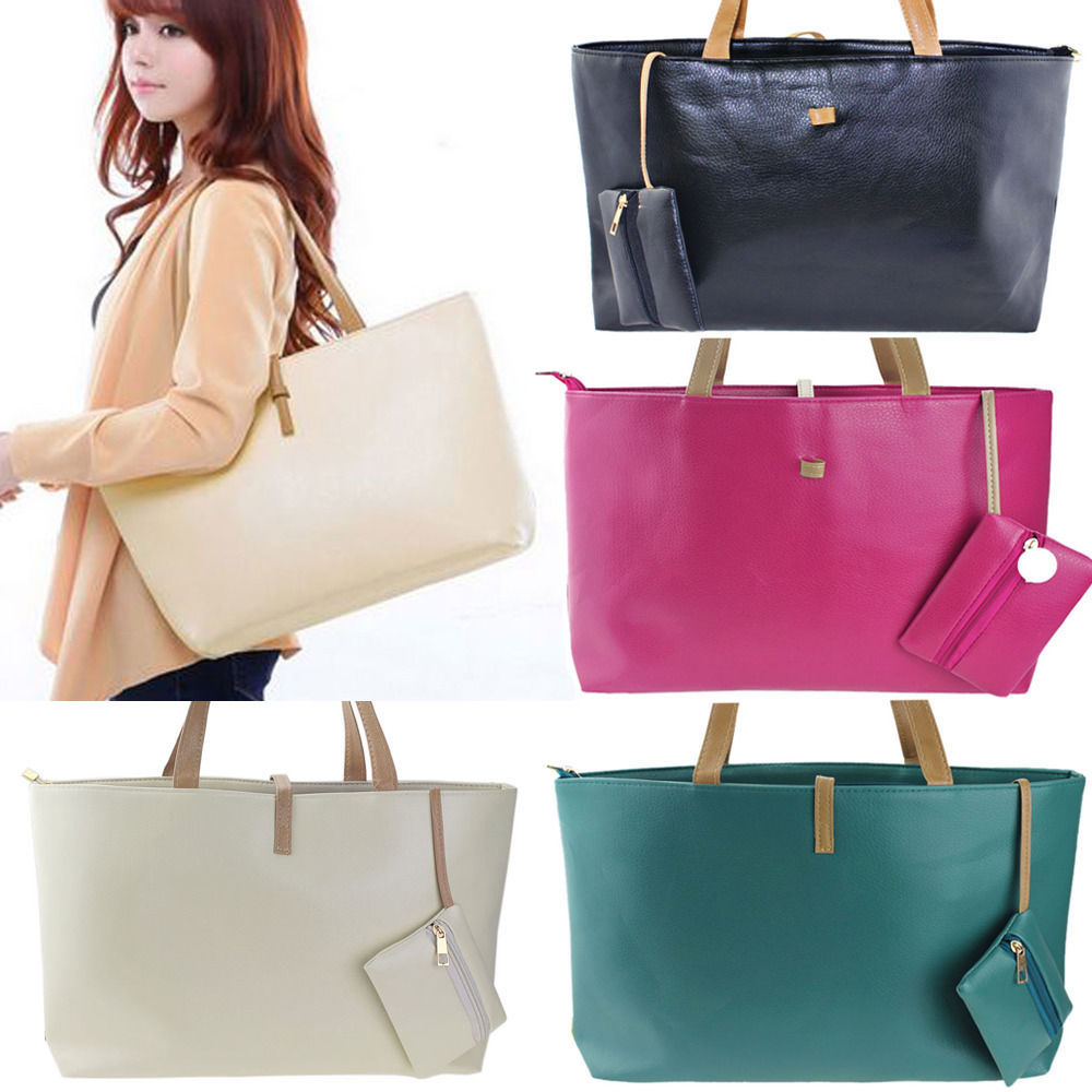 2015 Fashion Women Handbags PU Leather Tote Bags Hobo Shoulder Satchel Bag Ladies Purses and Handbags Free Shipping(China (Mainland))