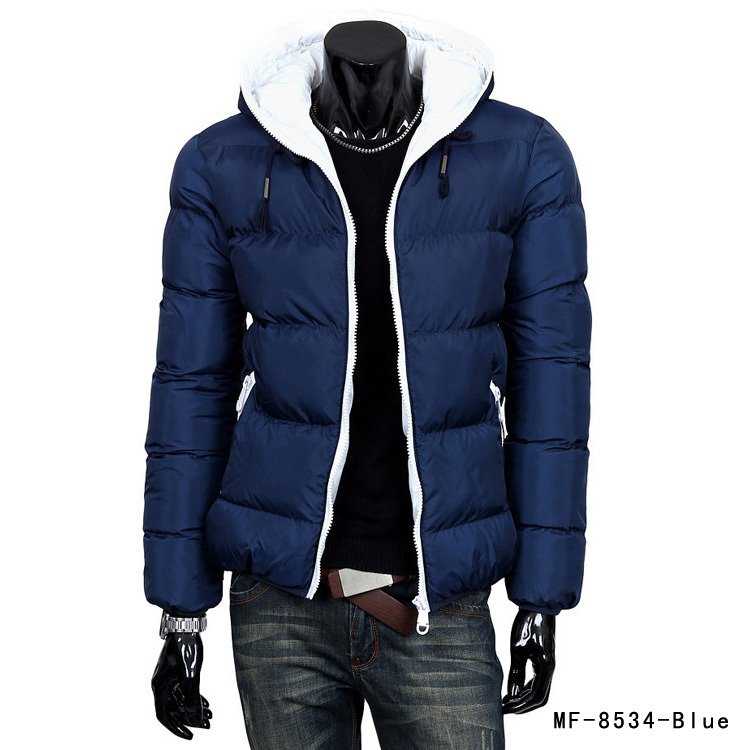 2015 New Winter Jacket Men s Hooded Wadded Coat Outerwear Male Slim Casual Cotton Outdoors Down