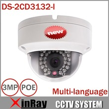 2015 New V5.2.5 Hikvision DS-2CD3132-I replace DS-2CD2132F-IS 3MP Mini Dome Camera 1080P POE  IP CCTV Camera Multi-language