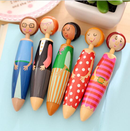 5pcs/lot Funny Doll villain ballpoint pen Blue ink ballpen cute gift Office Stationery School supplies(China (Mainland))