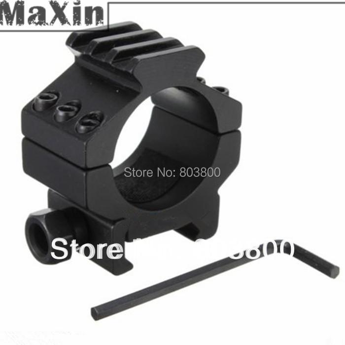 1 pair Free shipping Black Rifle Tactical Medium Profile 30mm Scope mount  Rings 20mm Weaver Picatinny Quad Rail