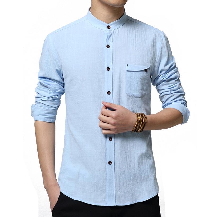 Collarless Mens Shirts