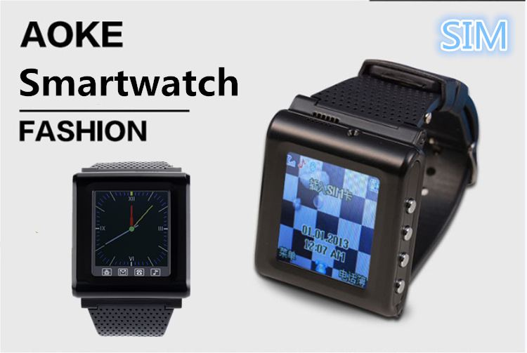 2015 SIM Support Wearable Devices AK812 Smart Watch Mobile Phone with Touch Screen reloj Inteligente Smart WatchPhone Unlock(China (Mainland))